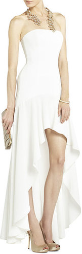 Evangelina Fitted Strapless High-Low Dress