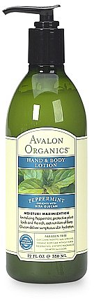 Avalon Organics Hand & Body Lotion Peppermint