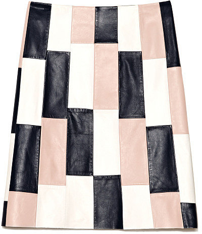 Preorder Thakoon Leather Panelled Combo A-Line Skirt