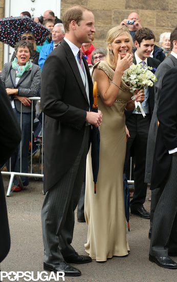 Prince William had a laugh with Chelsy Davy.