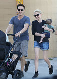 Anna Paquin and Stephen Moyer took their twins, Charlie and Poppy, for a stroll in LA.