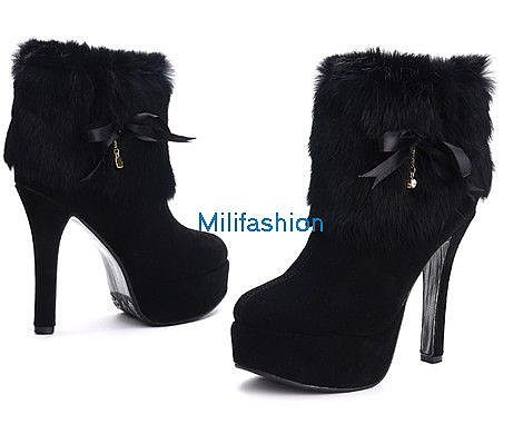 Cheaping Fashion shorts boots wool high heel shoes_Boots_Fashion shoes_Mili fashion Trade Co.Ltd