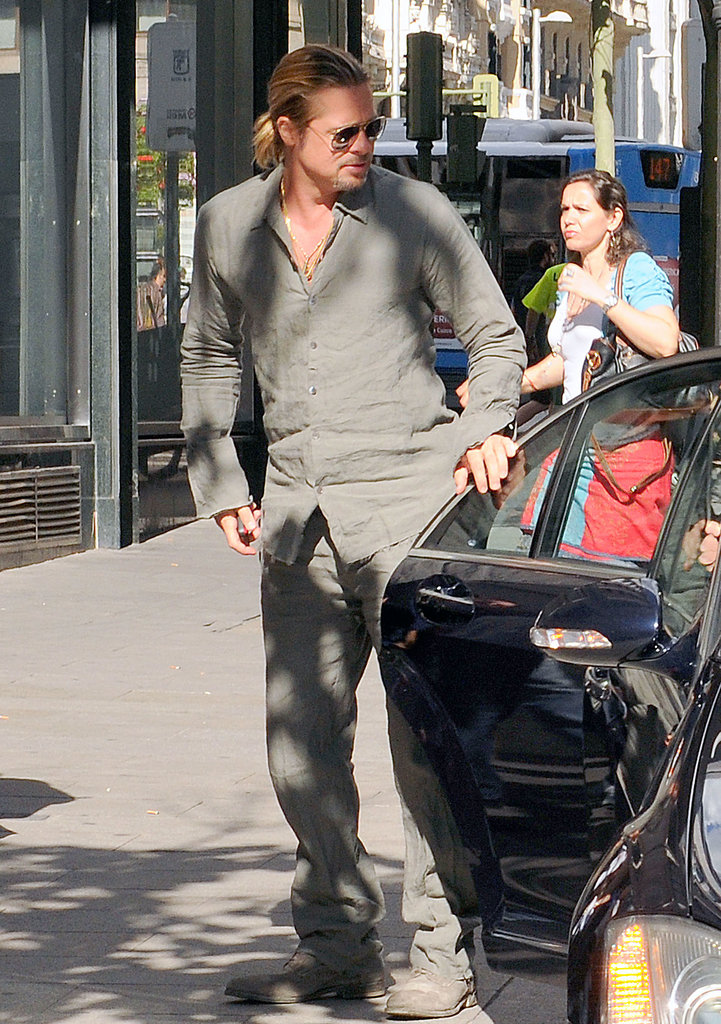 Brad Pitt popped up in Madrid.