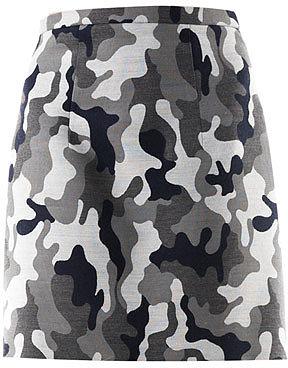 Christopher Kane Camo-print wool mini skirt