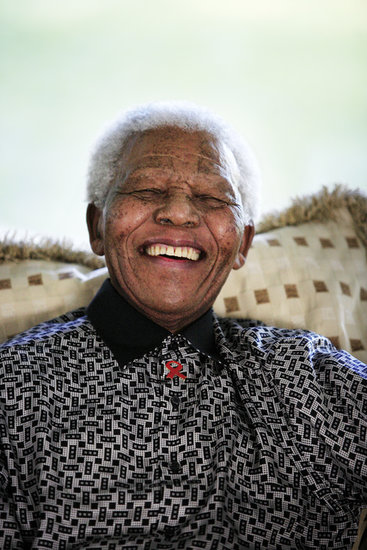 "In 2001, Nelson Mandela told Oprah what makes a good leader: ""When there is danger, a good leader takes the front line; but when there is celebration, a good leader stays in the back of the room."""