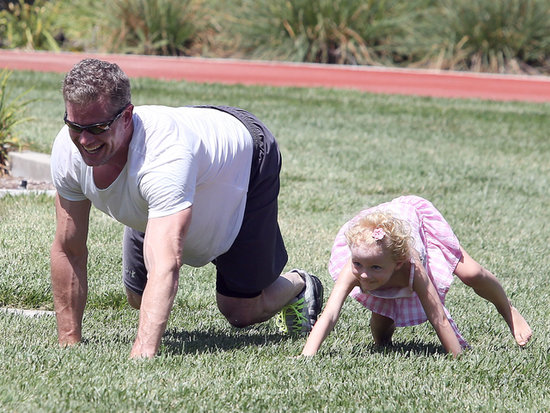 Eric Dane played in the park on Saturday with his daughter, Billie Dane, in Beverly Hills.