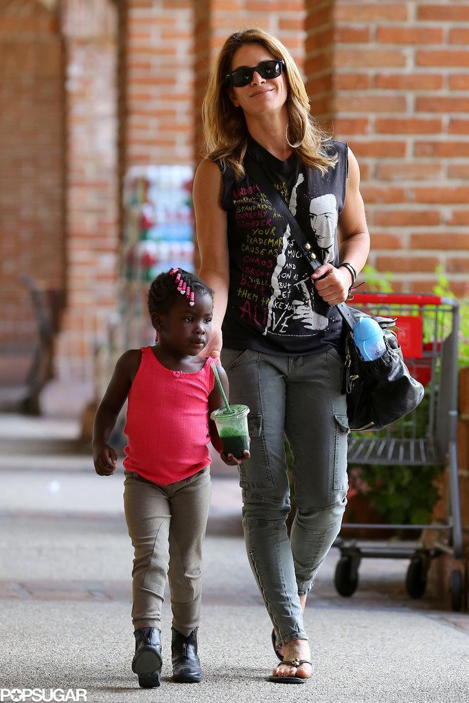 Jillian Michaels spent Sunday in LA with her daughter, Lukensia Michaels Rhoades.