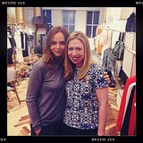 Stella McCartney and Chelsea Clinton hung out in her NYC boutique. Source: Instagram user stellamccartney