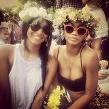 Chanel Iman and a friend spent a fashionable day at a park festival — all hail flower crowns! Source: Instagram user chaneliman