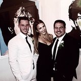 Jessica Alba posed with designer Narciso Rodriguez and his groom, Thomas Tolan, during the couple's nuptials. Source: Instagram user jessicaalba