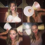 Hilary Duff had some fun during a recent night out. Source: Instagram user hilaryduff