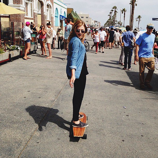 Chloë Moretz shared this cute snap while skateboarding in LA. Source: Instagram user cmoretz