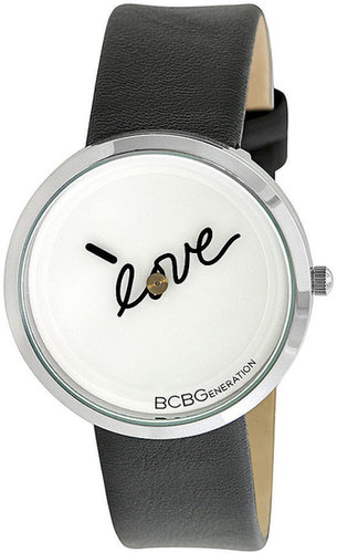 BCBGeneration Watch, Women's Black Leather Strap 36mm GL4179