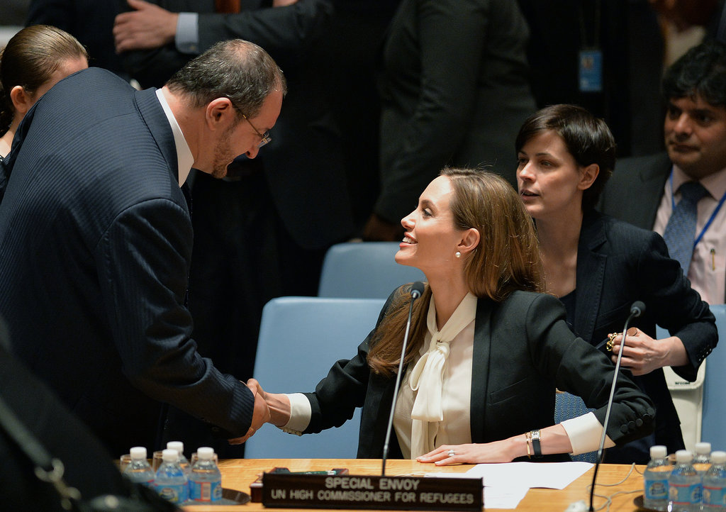 Angelina Jolie spoke to the UN Security Council.