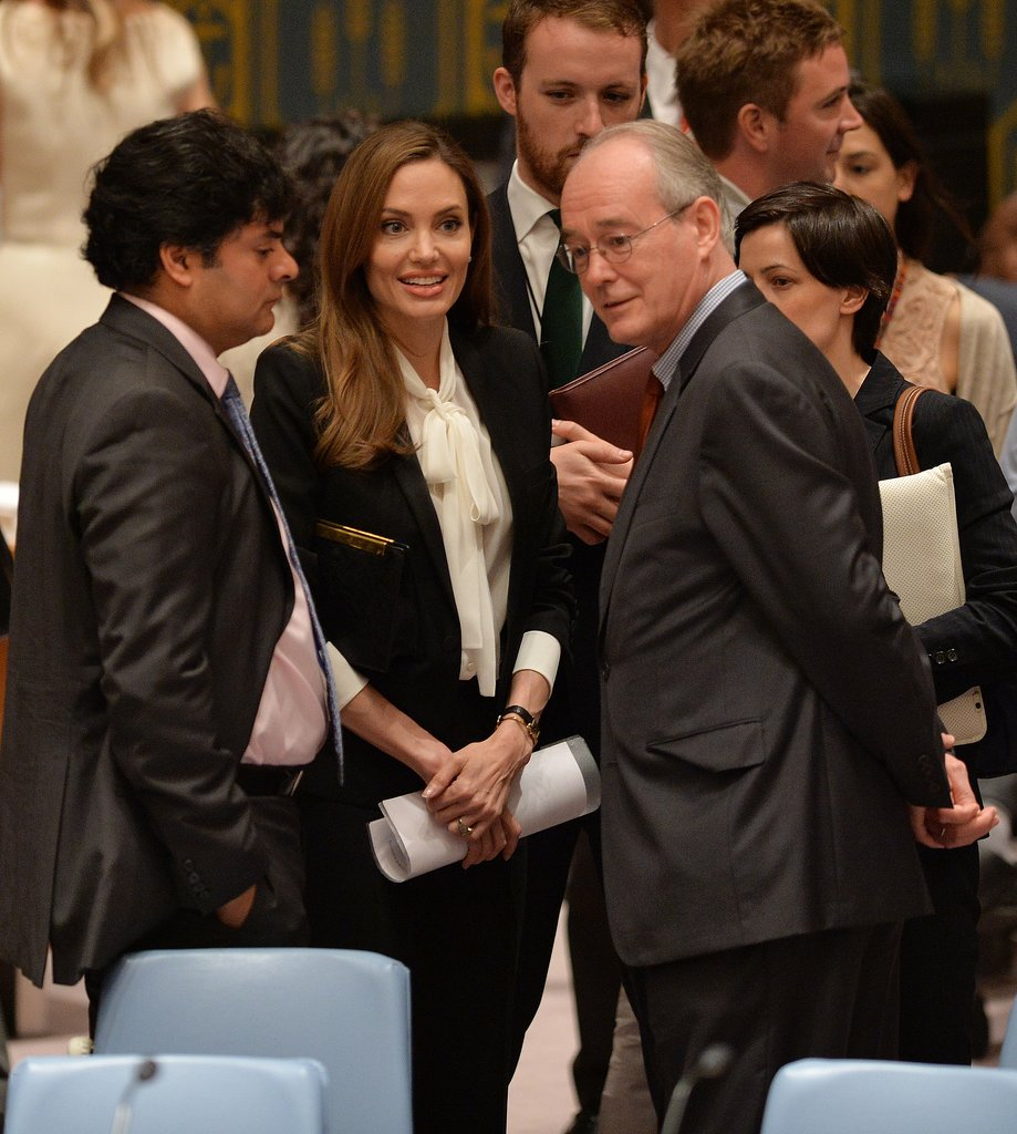 Angelina Jolie spoke to the United Nations Security Council.