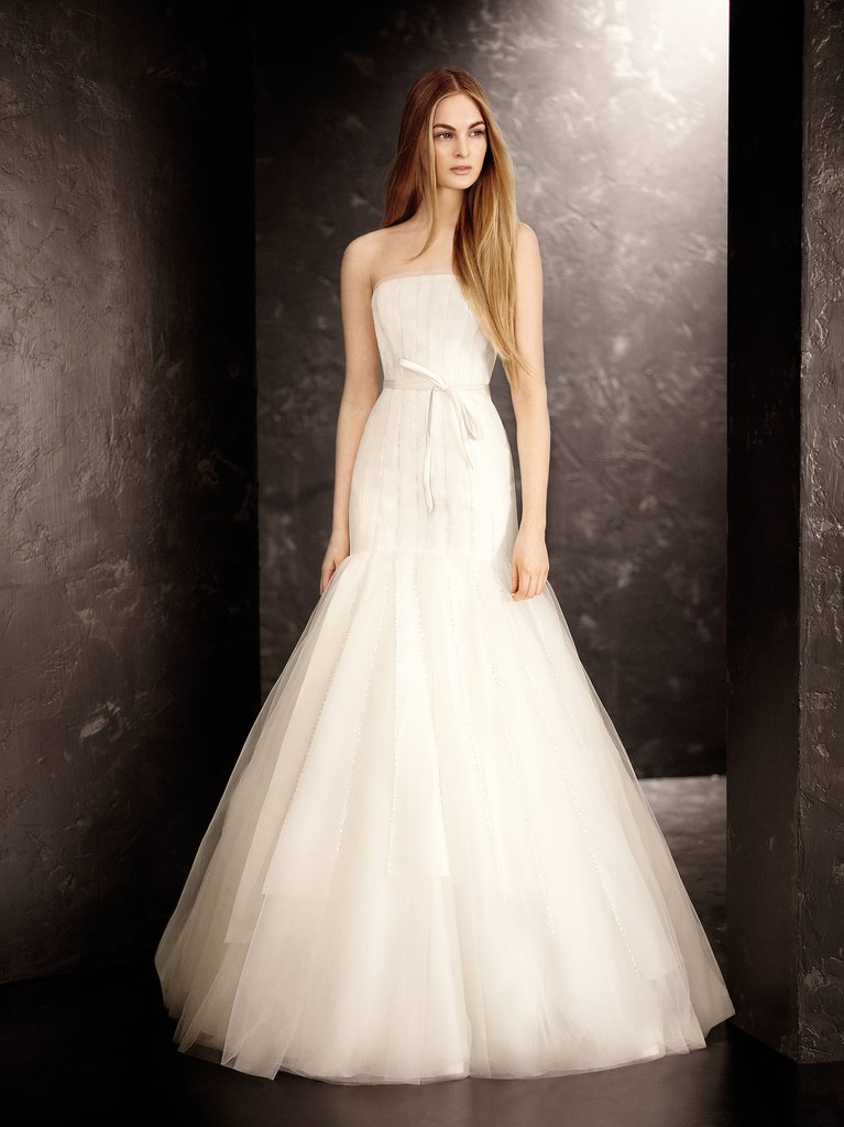 Strapless Satin and Organza Fit and Flare Gown ($1,148)