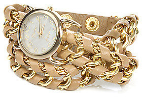 *MKL Accessories The Great Time Watch in Beige