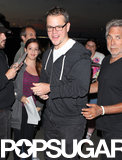 Matt Damon gave a big smile at LAX.
