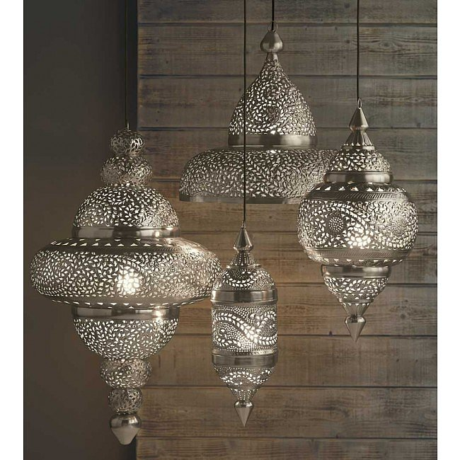 "They're not technically outdoor lights, but these Moroccan Hanging Lamps ($198-$498) would upgrade any porch. Plus, don't they remind you of ""Starry Night""?"