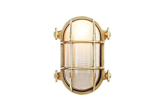 The Davey Lighting Oval Bulkhead Light ($275) gets reimagined in gold, and we love it!