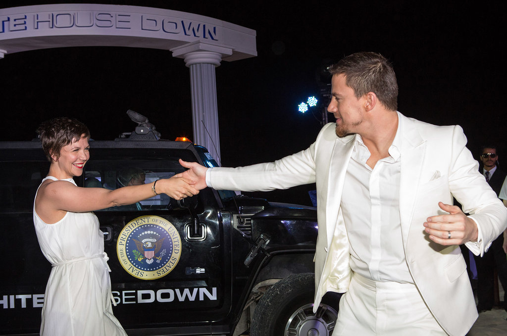 Channing Tatum and Maggie Gyllenhaal danced the night away together in Cancun, Mexico, while celebrating White House Down at the Summer of Sony party in April.