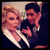 John Stamos asked his fans to provide a caption for this funny photo with Joan Rivers. Source: Instagram user johnstamos
