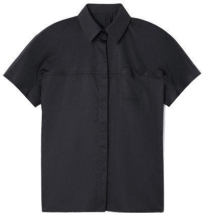 Preorder Jason Wu Short Sleeved Button Front Cotton Shirt