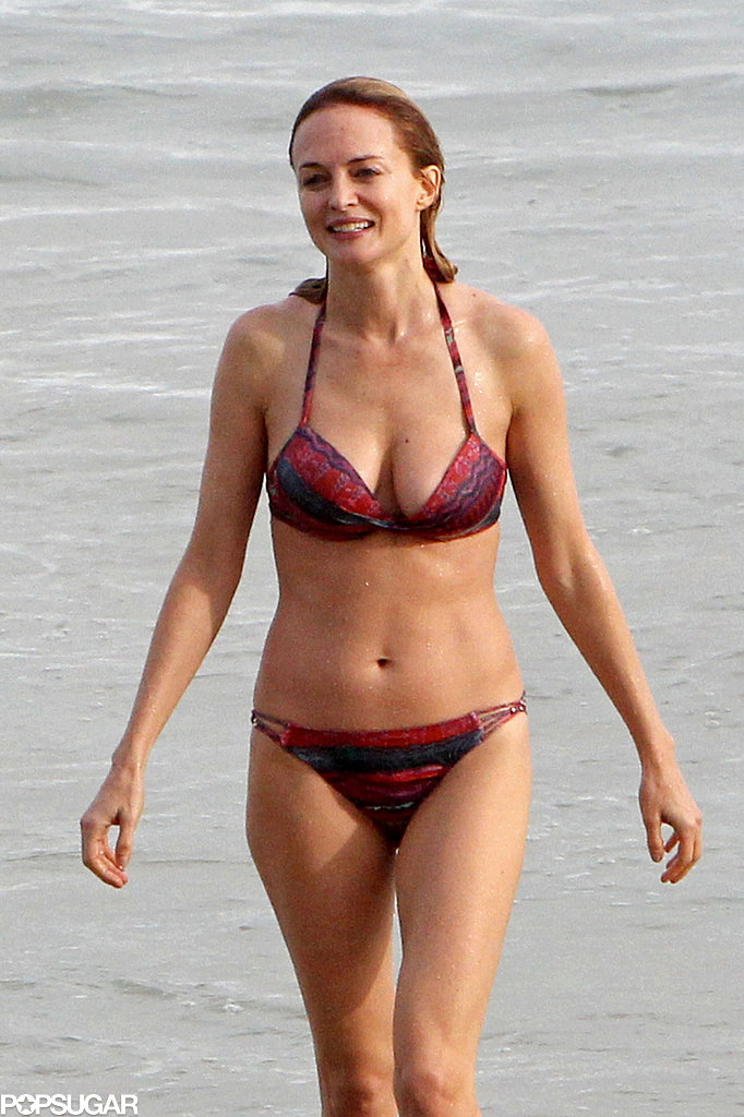 Heather Graham showed off her bikini body in Rio de Janeiro in May while taking a beach break from promoting The Hangover Part III.