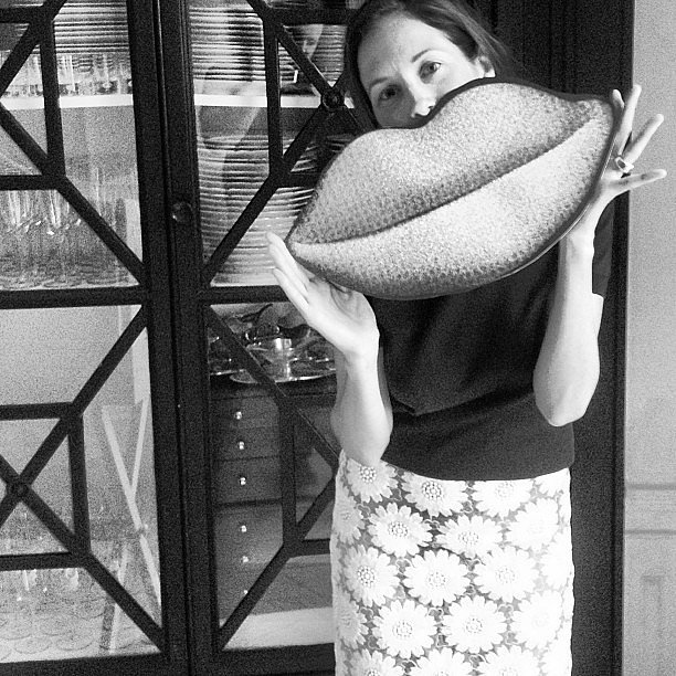 Taylor Tomasi Hill sent a big kiss in this black and white snap. Source: Instagram user ttomasihill