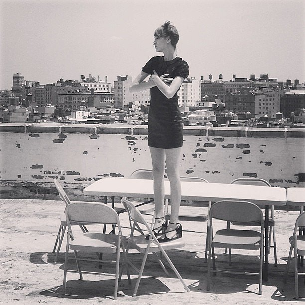 Alexa Chung shared a behind-the-scenes snap from a recent photo shoot. Source: Instagram user chungalexa