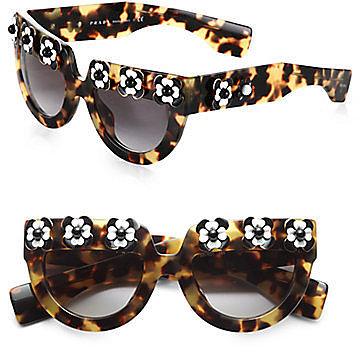 Prada Flowered Cat's-Eye Sunglasses