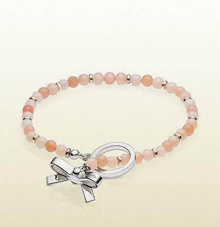 Bow Charm Beads Bracelet