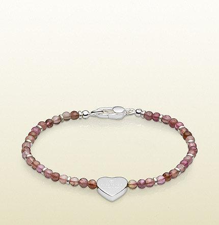 Heart Charm Beads Bracelet