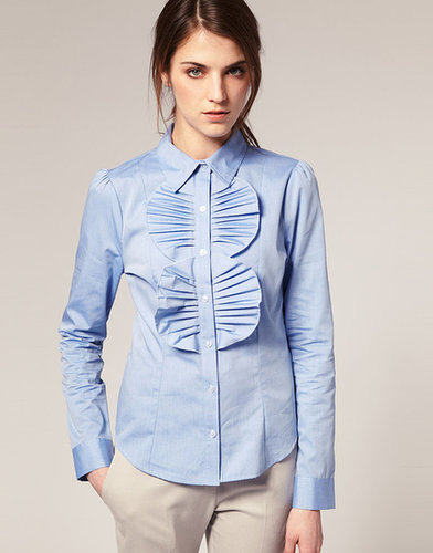 ASOS Fan Pleated Fitted Shirt