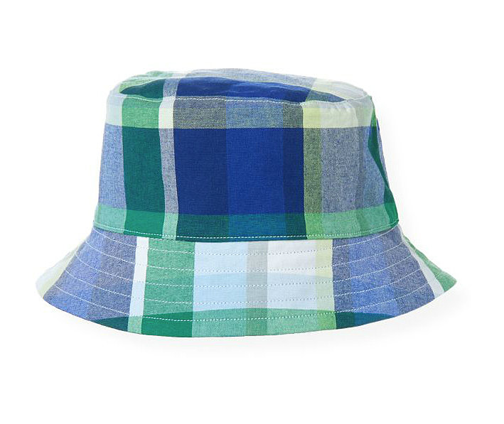 Janie and Jack Reversible Plaid Bucket Hat