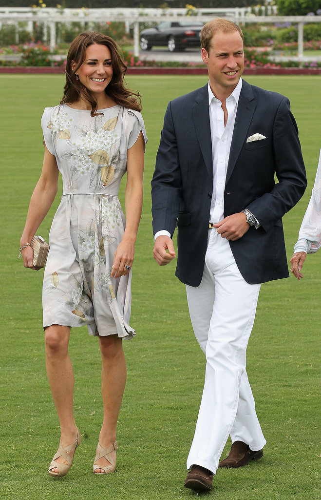 Kate Middleton joined Prince William for a charity polo match for his foundation with Prince Harry during their July 2011 visit to Santa Barbara, California.