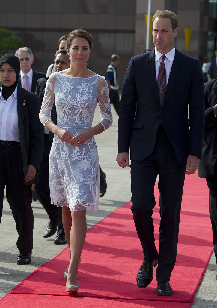 In September 2012, Kate Middleton and Prince William looked stylish as they left Kuala Lumpur, Malaysia, during their official royal trip.
