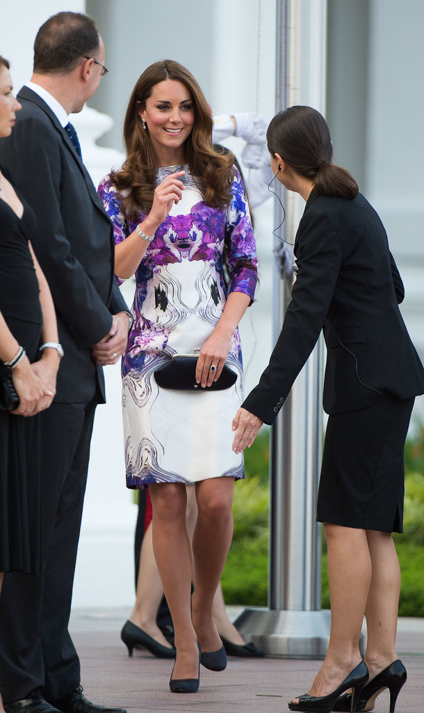 Kate Middleton attended a welcome ceremony in her honour during her September 2012 visit to Singapore.