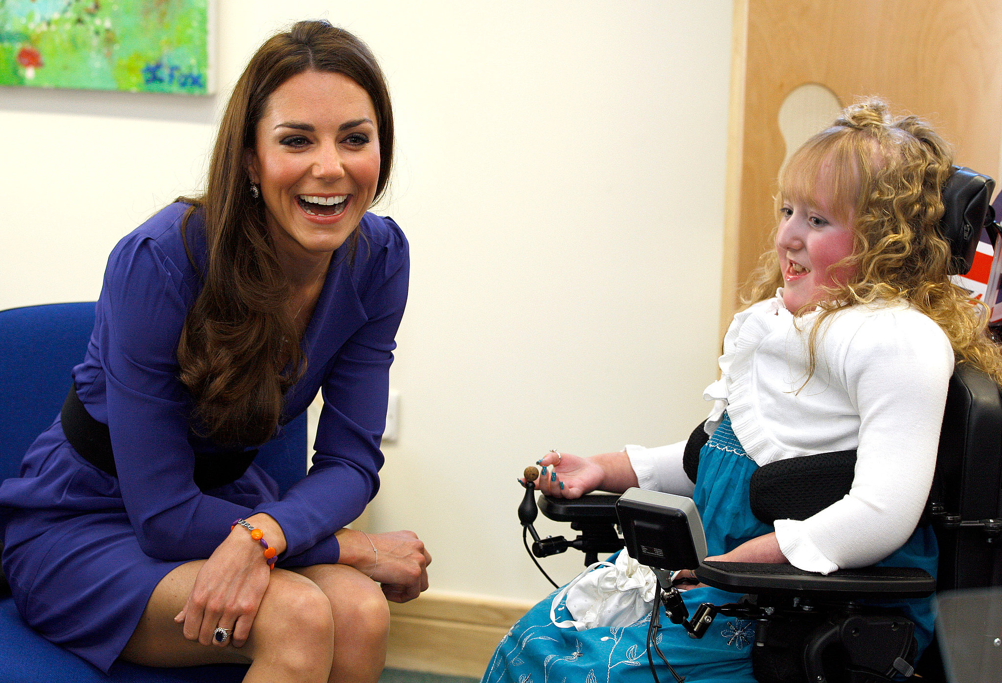 She met a young woman during a visit to The Treehouse, a children's hospice in Ipswich, England, back in March 2012.