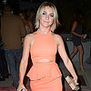 Julianne Hough Wearing Orange Cutout Peplum Dress