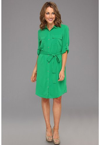 Calvin Klein - Shirt Dress (Emerald) - Apparel