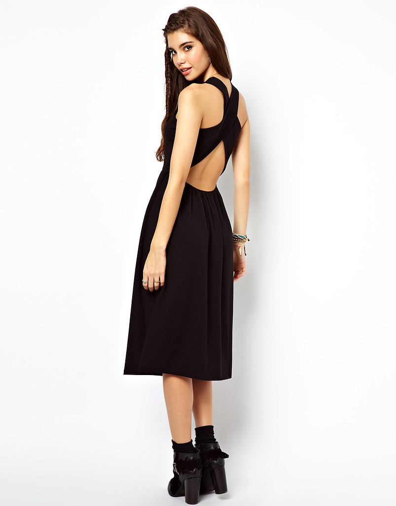 It's almost impossible to think of a place we wouldn't wear this ASOS Midi Sundress With Wrap Back ($42).