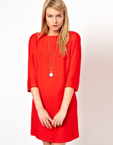 ASOS Shift Dress With Cropped Sleeves