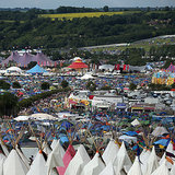 Tents popped up at England's Worthy Farm with the start of the Glastonbury Festival.