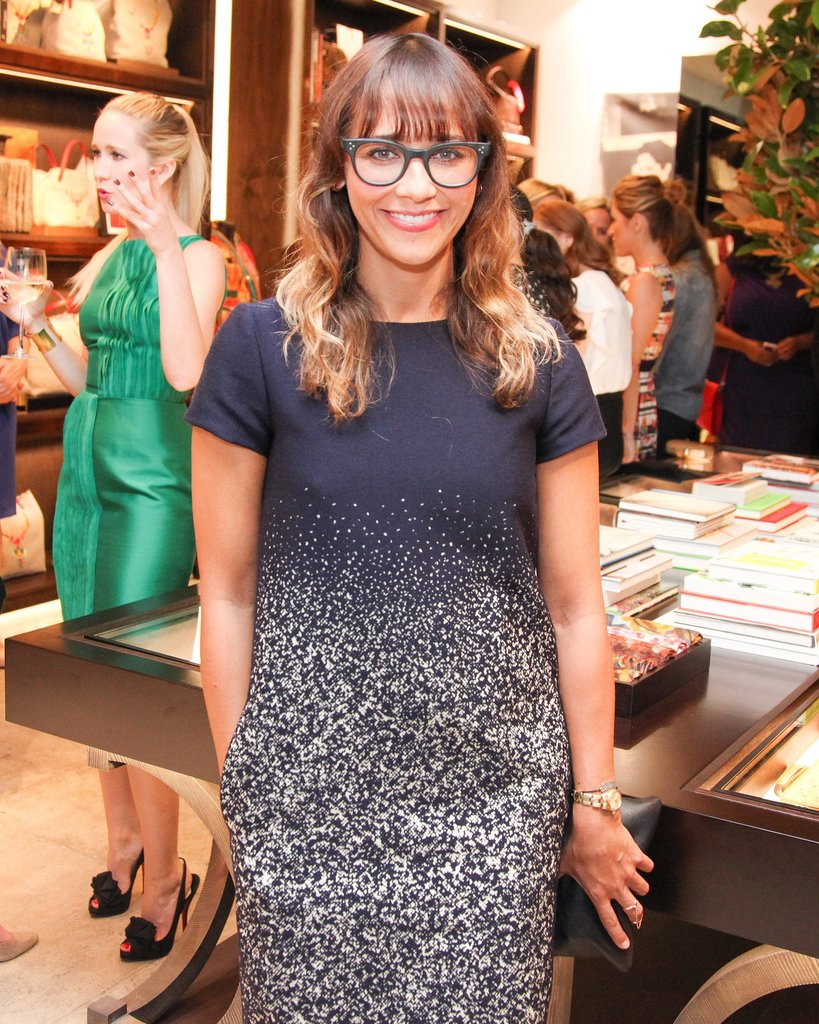 With cheeky glasses and ombré hair, Rashida Jones looked trendy and sweet.