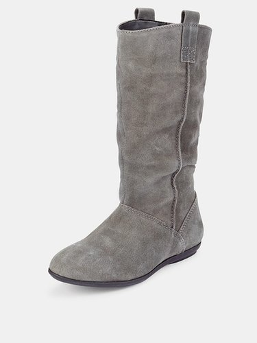 South Moran Suede Slouch Calf Boots
