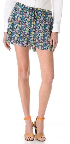 Band of outsiders Mini Blossom Crinkle Shorts