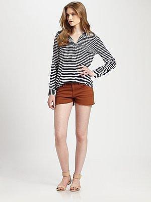 Splendid Striped Cargo Shirt