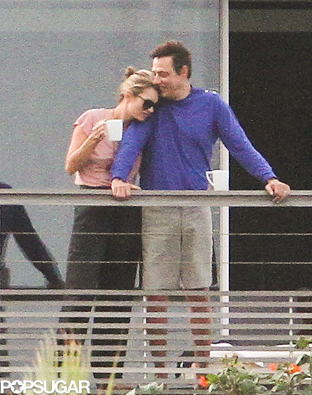 The couple showed PDA while spending time on their balcony during a December 2012 trip to St. Barts.