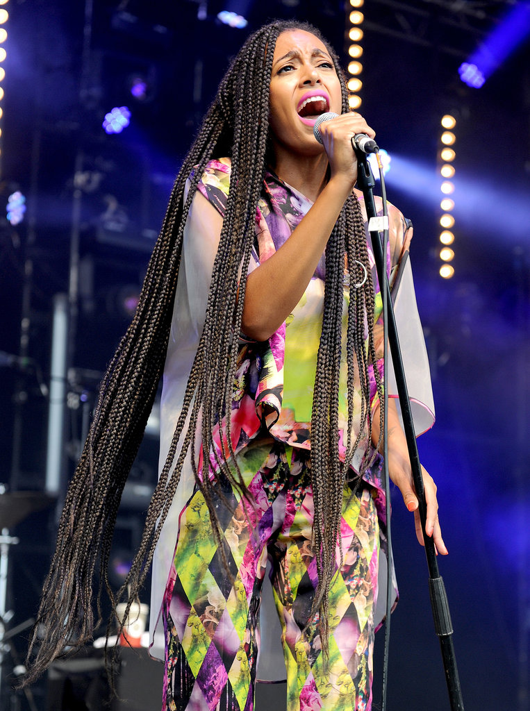 Solange Knowles performed on day two of Glastonbury.